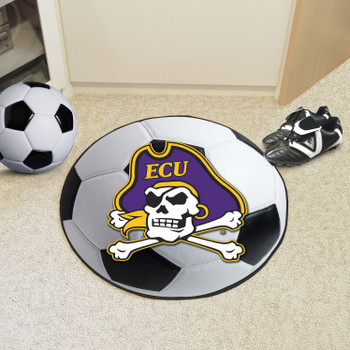 "27"" East Carolina University Soccer Ball Round Mat"