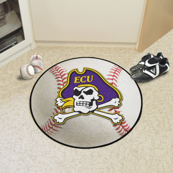 "27"" East Carolina University Baseball Style Round Mat"