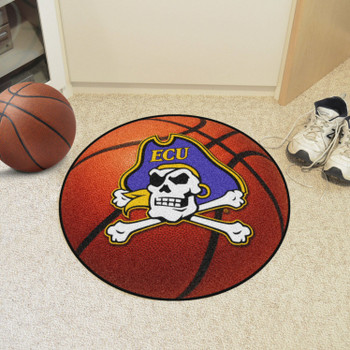 "27"" East Carolina University Basketball Style Round Mat"