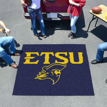 "59.5"" x 71"" East Tennessee State University Navy Blue Tailgater Mat"