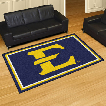 5' x 8' East Tennessee State University Navy Blue Rectangle Rug
