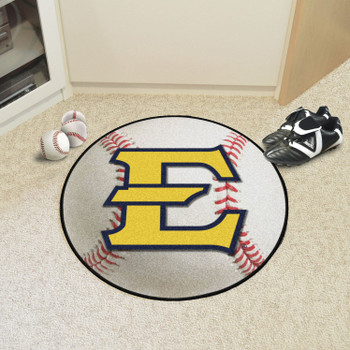 "27"" East Tennessee State University Baseball Style Round Mat"