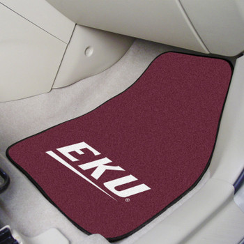 Eastern Kentucky University Maroon Carpet Car Mat, Set of 2