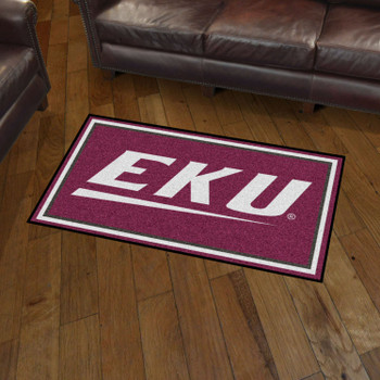 3' x 5' Eastern Kentucky University Maroon Rectangle Rug