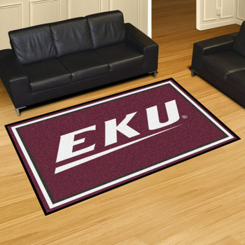 5' x 8' Eastern Kentucky University Maroon Rectangle Rug