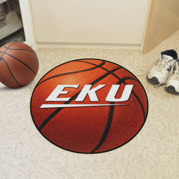 "27"" Eastern Kentucky University Basketball Style Round Mat"