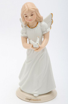 Confirmation Angel Porcelain Figurine Sculpture