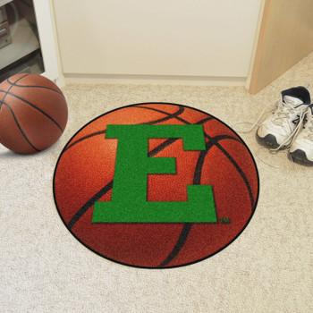 """27"""" Eastern Michigan University Basketball Style Round Mat"""