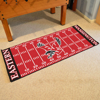 "30"" x 72"" Eastern Washington University Football Field Rectangle Runner Mat"