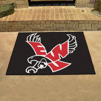 "33.75"" x 42.5"" Eastern Washington University All Star Black Rectangle Mat"