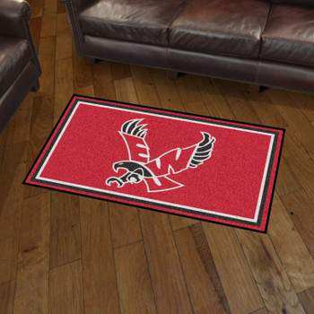 3' x 5' Eastern Washington University Red Rectangle Rug