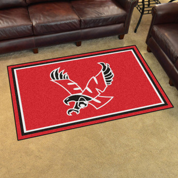 4' x 6' Eastern Washington University Red Rectangle Rug