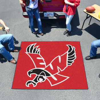 "59.5"" x 71"" Eastern Washington University Red Tailgater Mat"