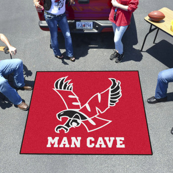 "59.5"" x 71"" Eastern Washington University Red Man Cave Tailgater Rectangle Mat"