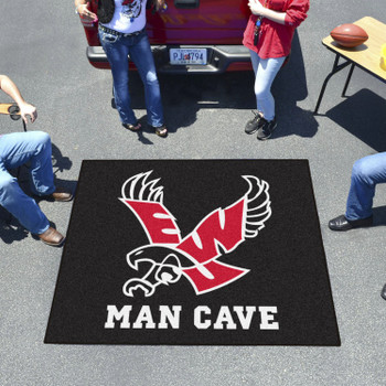 "59.5"" x 71"" Eastern Washington University Black Man Cave Tailgater Rectangle Mat"