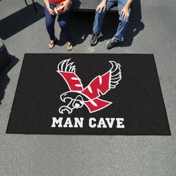 "59.5"" x 94.5"" Eastern Washington University Black Man Cave Rectangle Ulti Mat"