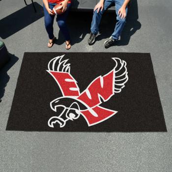 "59.5"" x 94.5"" Eastern Washington University Black Rectangle Ulti Mat"