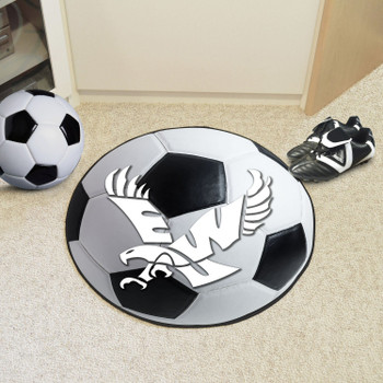 "27"" Eastern Washington University Soccer Ball Round Mat"