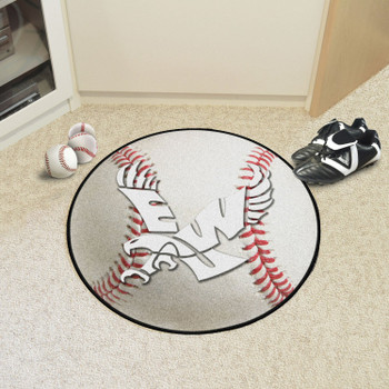 "27"" Eastern Washington University Baseball Style Round Mat"