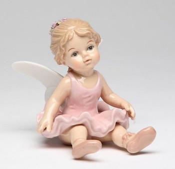 Ballerina Angel Holding Her Skirt Porcelain Sculpture
