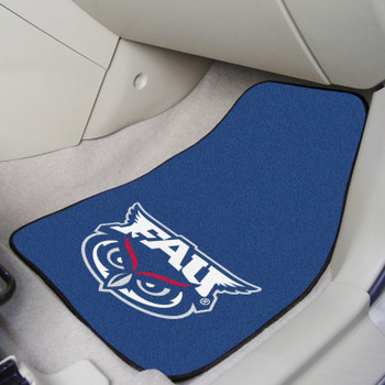 Florida Atlantic University Blue Carpet Car Mat, Set of 2