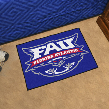 "19"" x 30"" Florida Atlantic University Blue Rectangle Starter Mat"