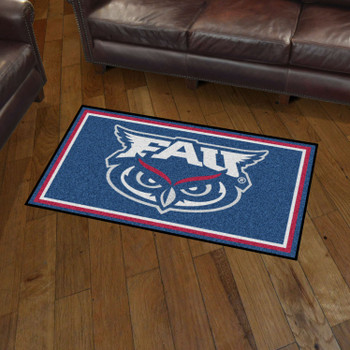 3' x 5' Florida Atlantic University Blue Rectangle Rug