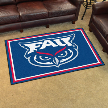 4' x 6' Florida Atlantic University Blue Rectangle Rug