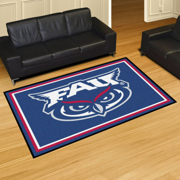 5' x 8' Florida Atlantic University Blue Rectangle Rug