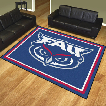 8' x 10' Florida Atlantic University Blue Rectangle Rug