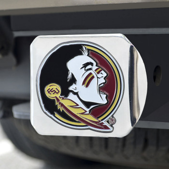 Florida State University Color Hitch Cover - Chrome