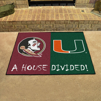 "33.75"" x 42.5"" Florida State / Miami House Divided Rectangle Mat"