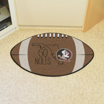 "20.5"" x 32.5"" Florida State University Southern Style Football Shape Mat"
