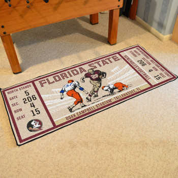 "30"" x 72"" Florida State University Ticket Rectangle Runner Mat"