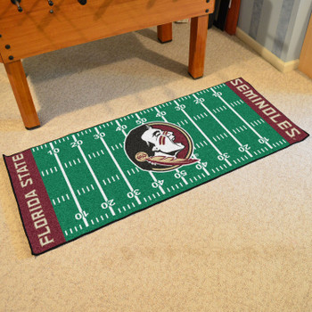 "30"" x 72"" Florida State University Football Field Rectangle Runner Mat"