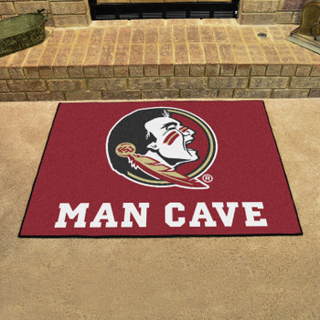 "33.75"" x 42.5"" Florida State University Man Cave All-Star Maroon Rectangle Mat"