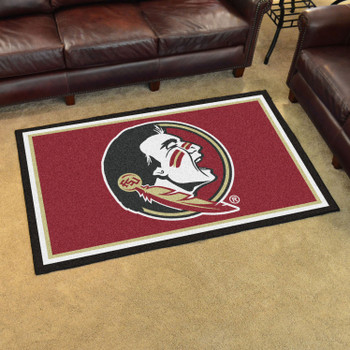 4' x 6' Florida State University Maroon Rectangle Rug