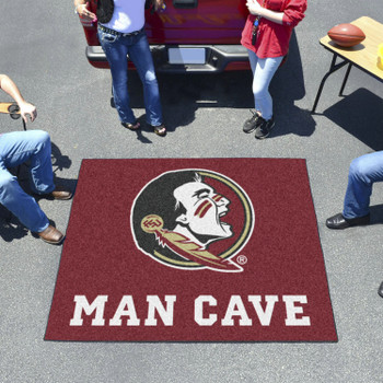 "59.5"" x 71"" Florida State University Man Cave Tailgater Maroon Rectangle Mat"