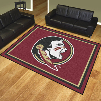 8' x 10' Florida State University Maroon Rectangle Rug