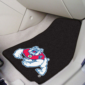 Fresno State Carpet Car Mat, Set of 2