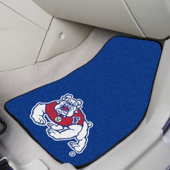 Fresno State Blue Carpet Car Mat, Set of 2