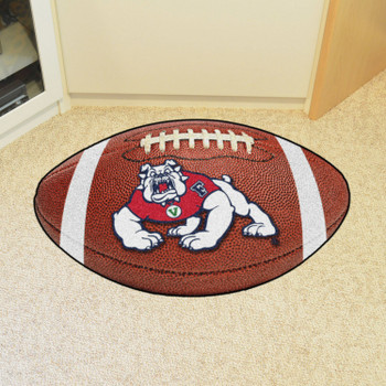 "20.5"" x 32.5"" Fresno State Football Shape Mat"