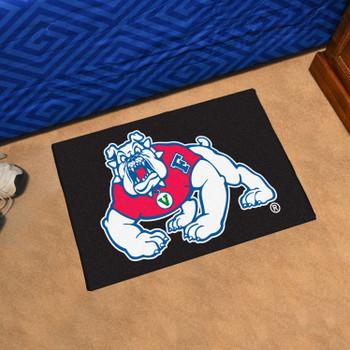 """19"""" x 30"""" Fresno State Black Rectangle Starter Mat"""
