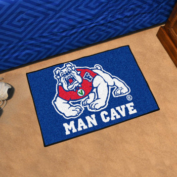 "19"" x 30"" Fresno State Blue Man Cave Starter Rectangle Mat"
