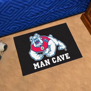 "19"" x 30"" Fresno State Black Man Cave Starter Rectangle Mat"