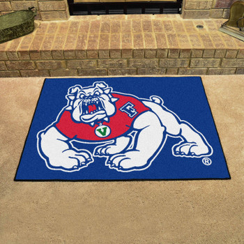 "33.75"" x 42.5"" Fresno State All Star Blue Rectangle Mat"