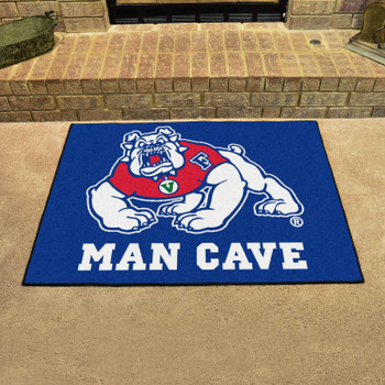 "33.75"" x 42.5"" Fresno State Blue Man Cave All-Star Rectangle Mat"