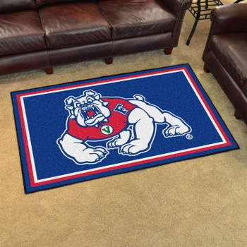 4' x 6' Fresno State Blue Rectangle Rug