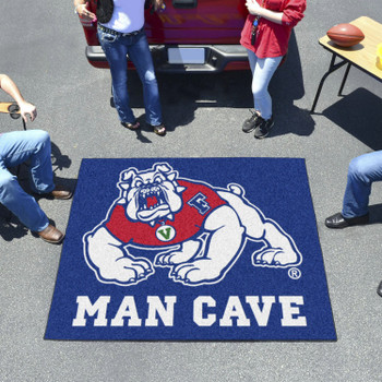 "59.5"" x 71"" Fresno State Blue Man Cave Tailgater Rectangle Mat"