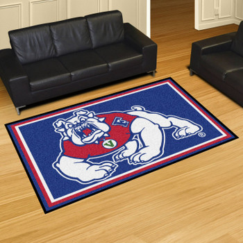 5' x 8' Fresno State Blue Rectangle Rug
